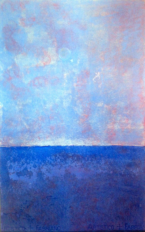 Anna Napoli, Sea and Sky, pastel painting on paper,cm 64x40 inches 25x15