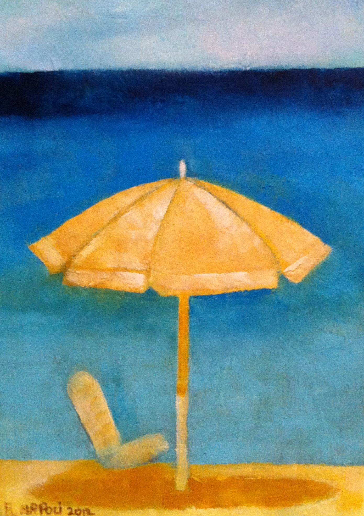 Sun Umbrella with chair