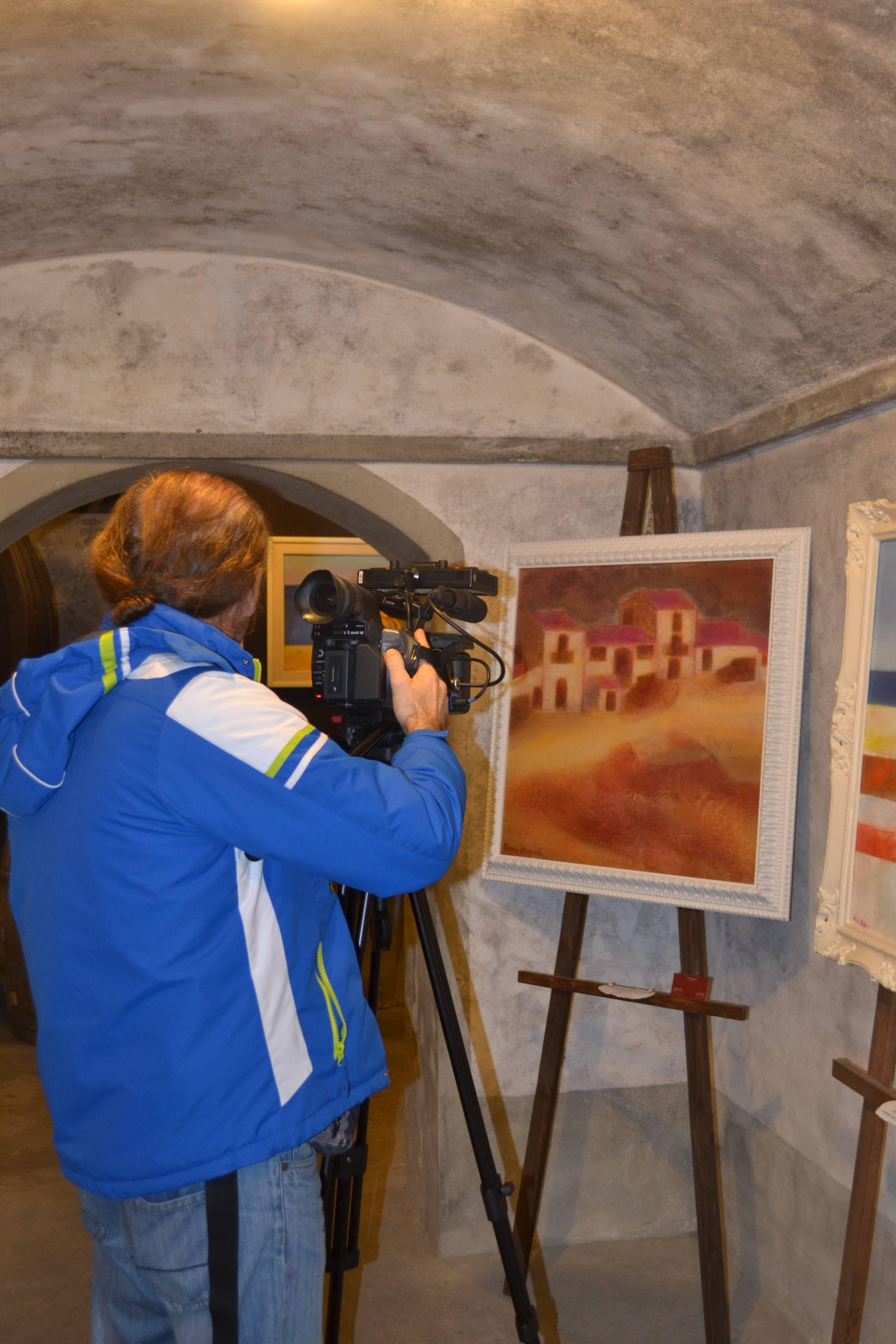 Cameramen TV Toscana Cantine Verdi Villa Medicea
