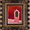 Thumbnail: Anna Napoli, Old door with steps, oil painting on cardboard cm 40x35, in 15x13