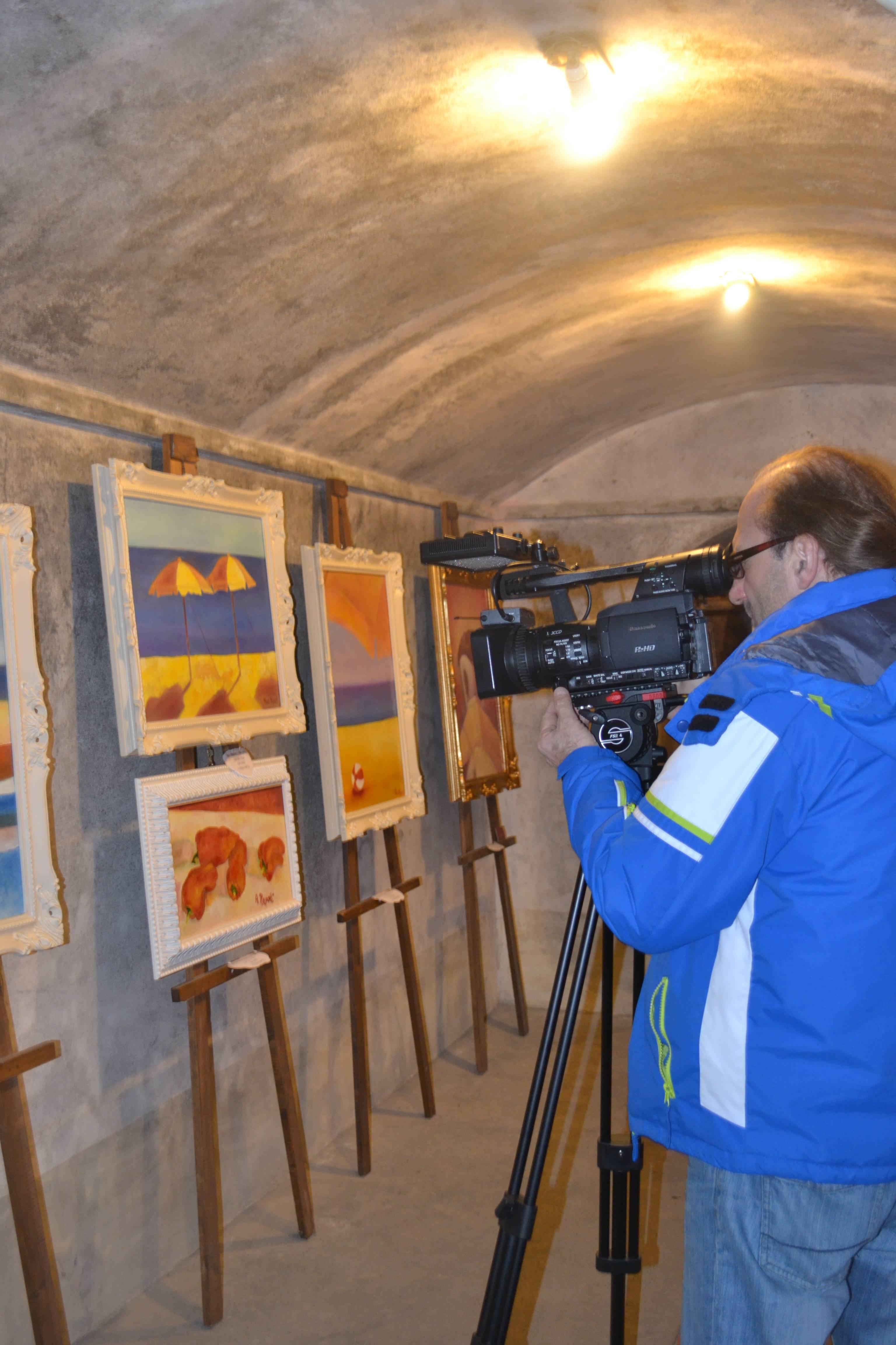 Cameramen TV Toscana Cantine Verdi Villa Medicea 2014