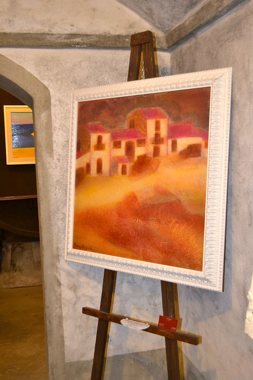 Anna Napoli, The Masseria, acrylic painting on canvas, cm70x70 in27x27