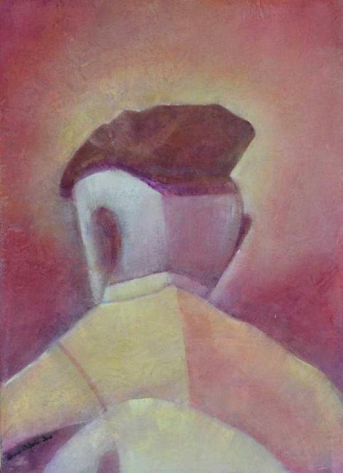 Anna Napoli,Nebrodi 1, acrylic painting on canvas, cm 70x50 in 27x19