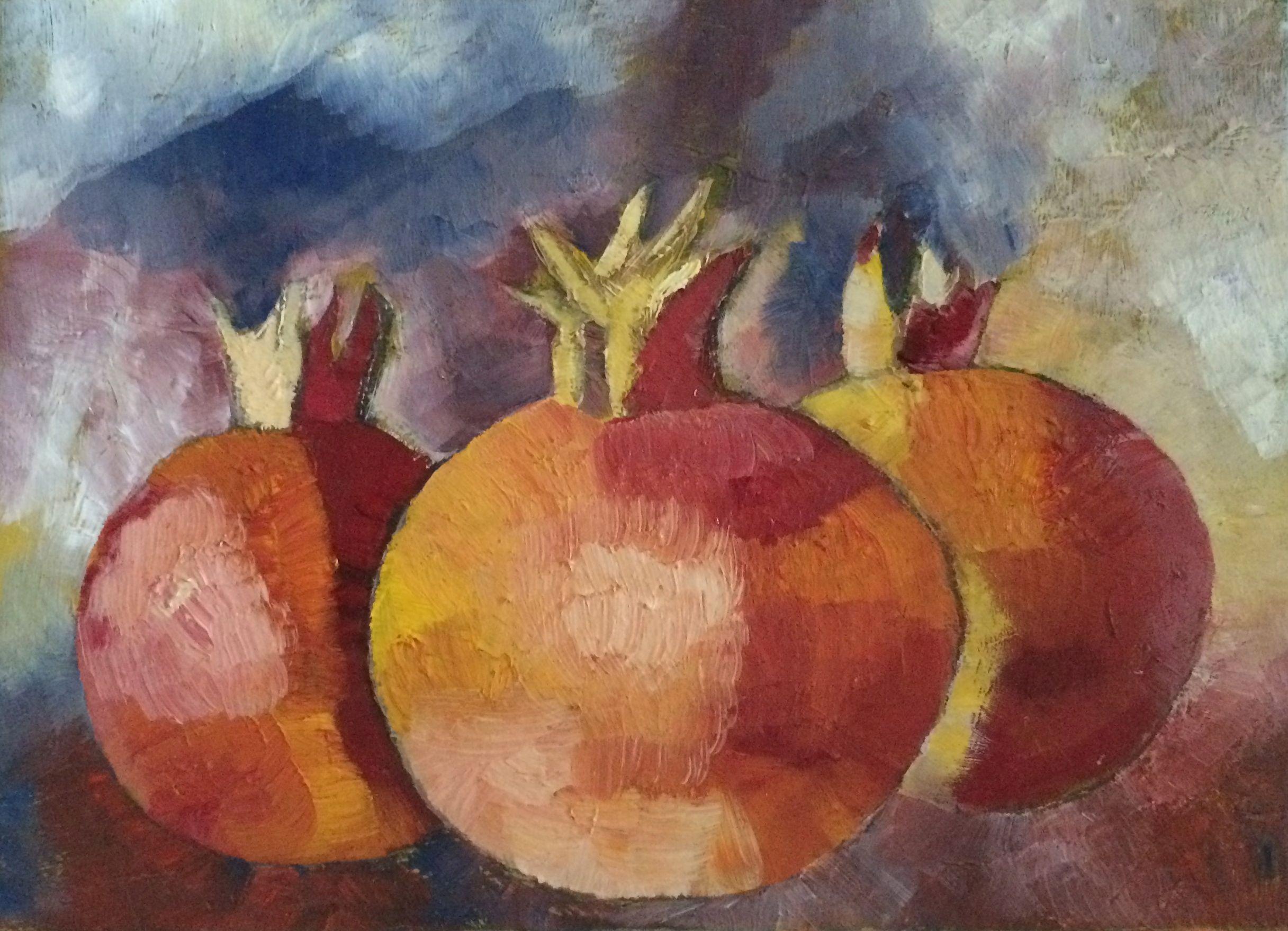 Three Pomegranate