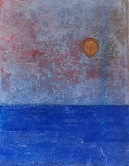 Anna Napoli, Sun on the sea, pastel painting on paper, cm44X34 in17x13