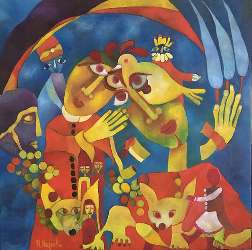 Anna Napoli, Song of songs nr 4 Solomon's Song of Songs, oil painting on canvas