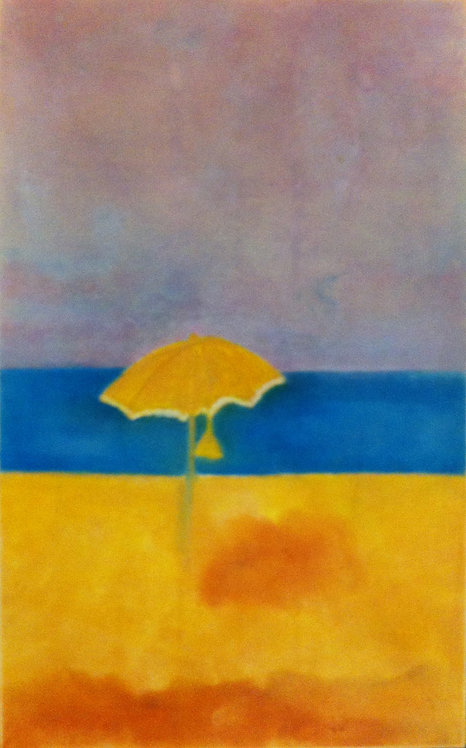 Anna Napoli, Sun-Umbrella, pastel painting on paper, cm 64,5x40 in 25x15