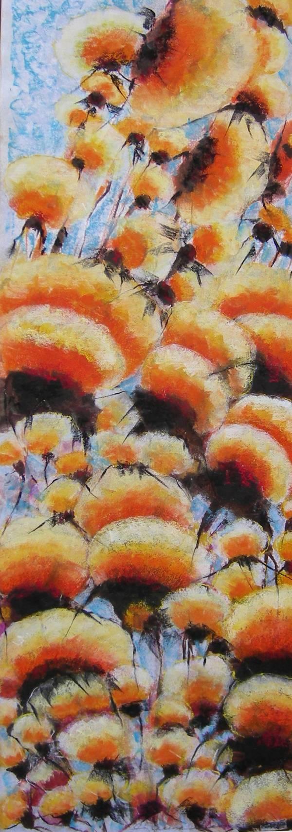 Orange thistles