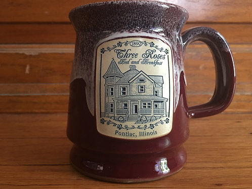 Dark Red Speckled Mug