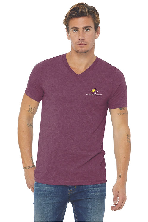 BELLA+CANVAS ® Unisex Triblend Short Sleeve V-Neck Tee