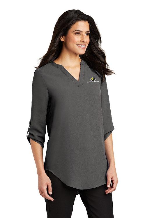 Ladies 3/4-Sleeve Tunic Blouse