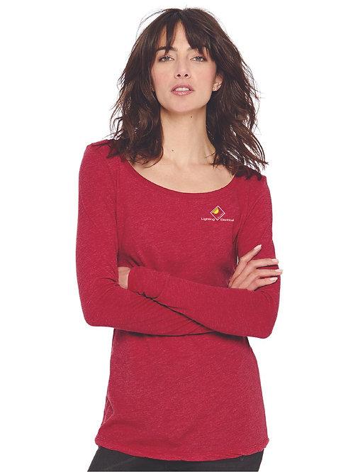 Next Level - Women's Triblend Long Sleeve Scoop