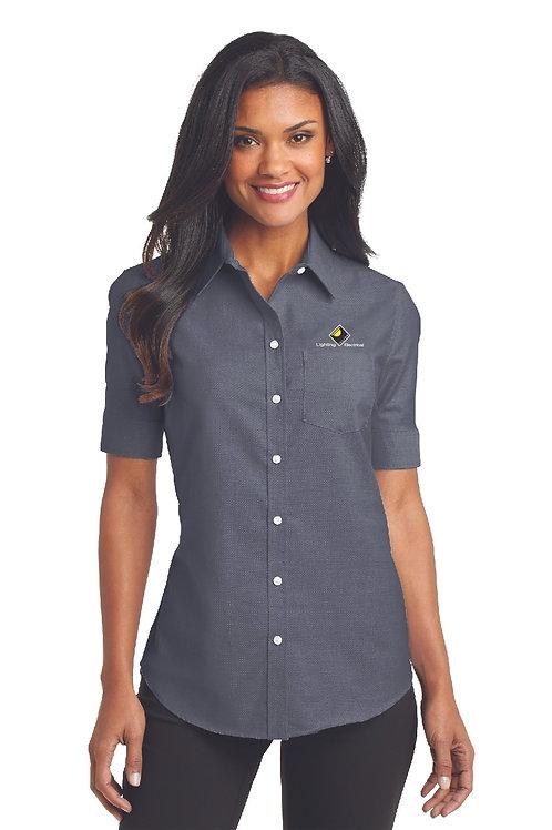 Port Authority® Ladies Short Sleeve SuperPro™ Oxford Shirt