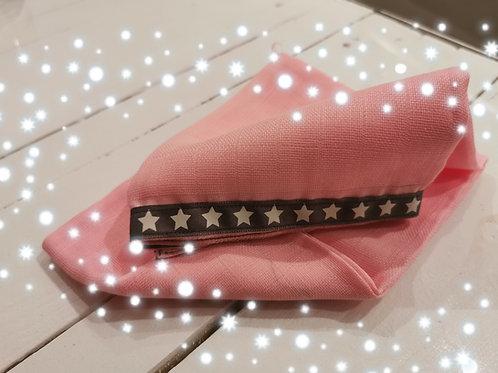 Nuschi rosa Stern weiss auf grau