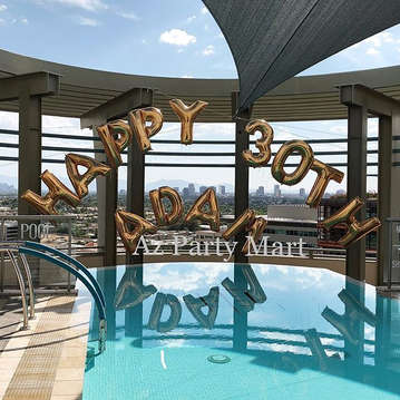 LETTER BALLOON ARCH