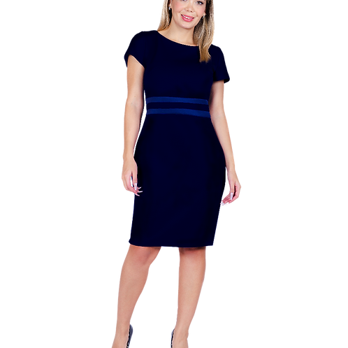 Vestido Bellísima con Corte Azul Marino