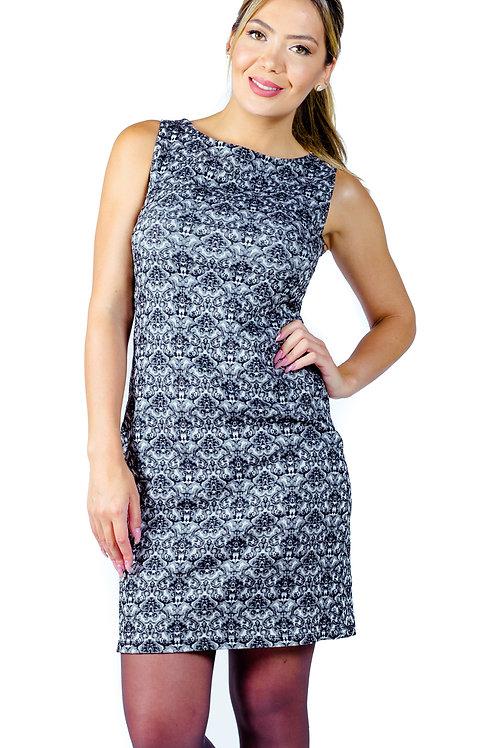 Vestido Elasticado | Gris |  Bellisima | VE-300-G