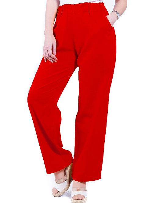 Pantalón Lino Rojo Bellísima