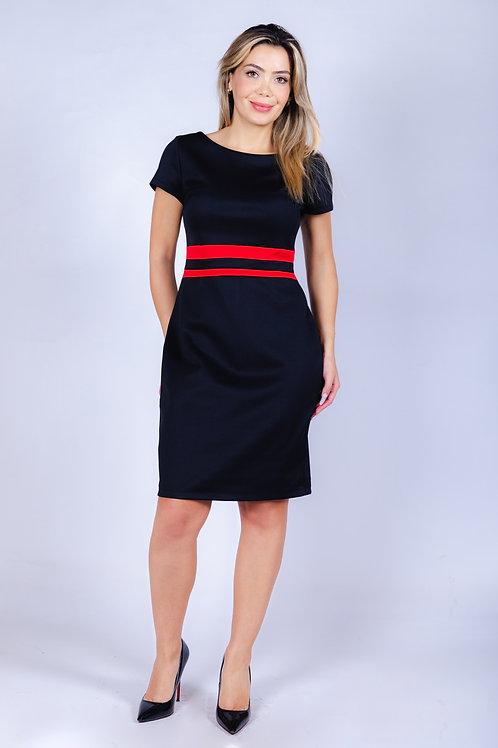 Vestido Bellísima con Corte Negro Rojo