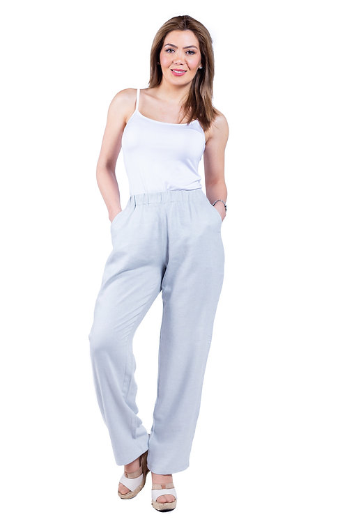 Pantalón Lino Gris Bellísima