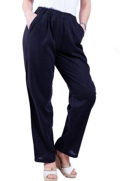 Pantalón Lino Azul Marino Bellísima