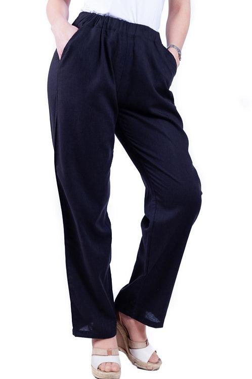 Pantalón Lino Negro Bellísima