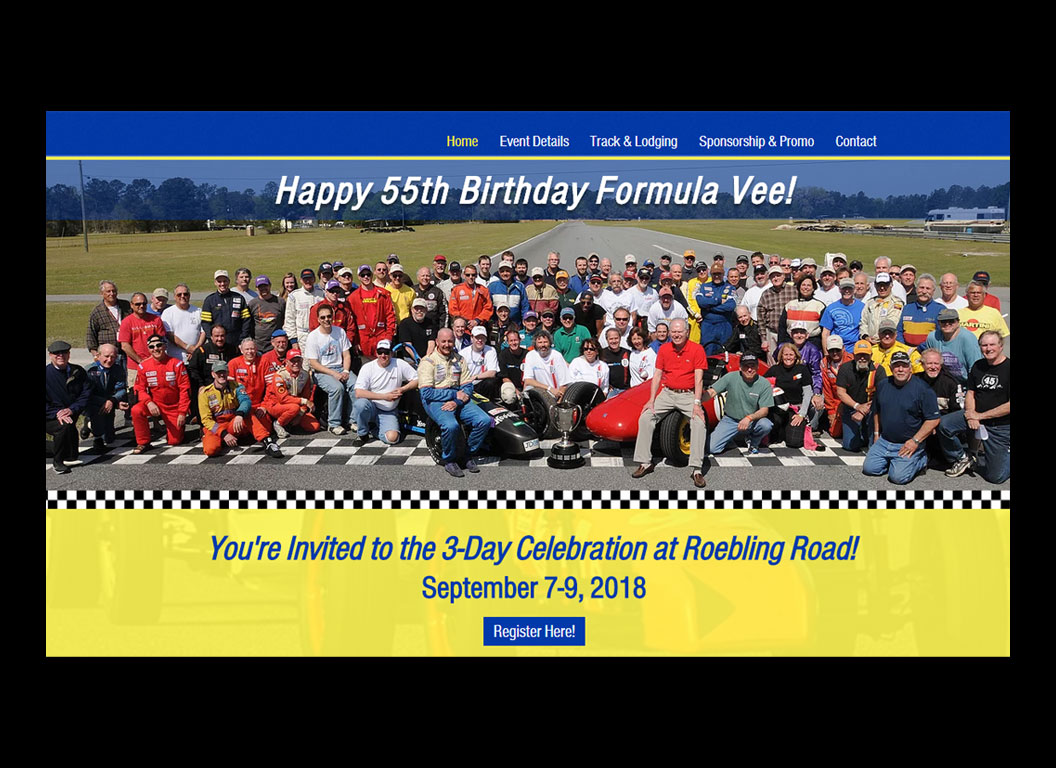 Formula Vee 55th Birthday Web Site