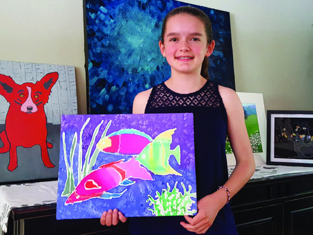 Young artist, bold colors