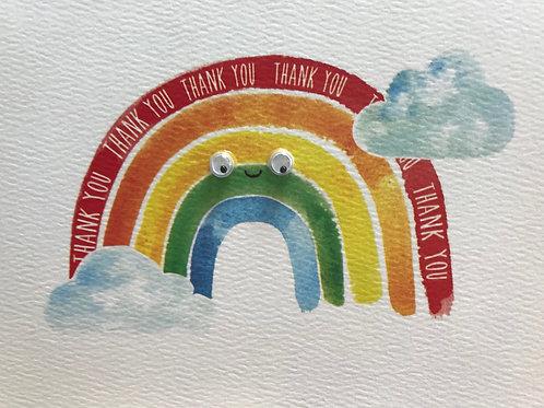 Rainbow 'Thank You' Card