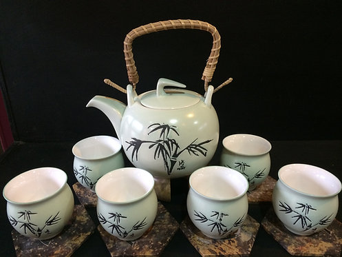 Oriental Tea Pot Set (Bamboo Design)