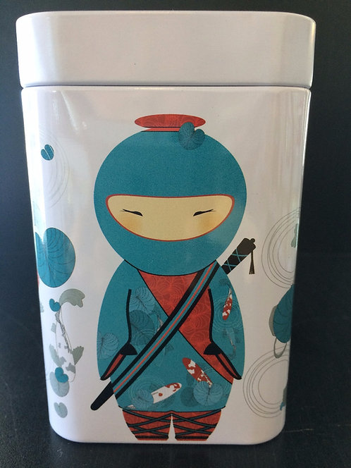 "Tea Tin ""Little Ninja"", Blue and Purple"