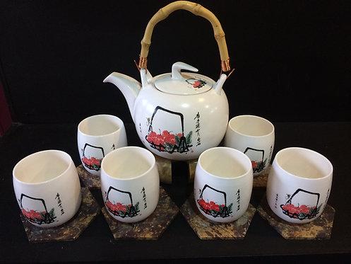 Oriental Tea Pot Set (Lychee Design)