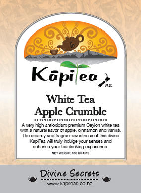 White Tea Apple Crumble