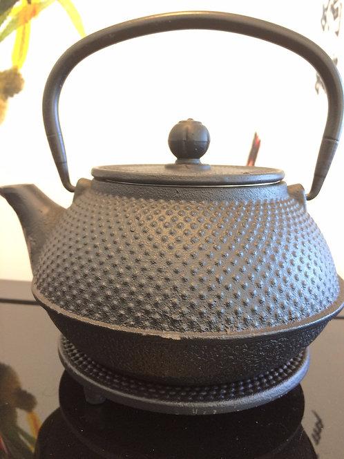 Cast Iron Teapot - Fine Hobnail Black (500 ml)
