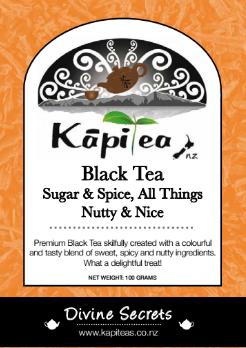 Black Tea Sugar & Spice, All Things Nutty & Nice