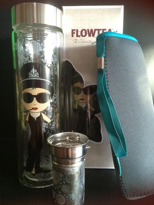 "Glass Travel Tea Flask - Flowtea ""Idols Audrey"""