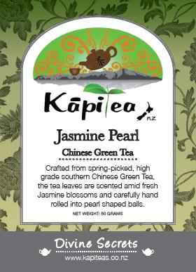Organic Jasmine Pearl Chinese Green Tea