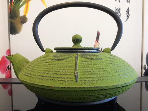 Cast Iron Teapot - Dragonfly Green (770 ml)
