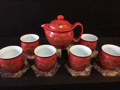 Oriental Tea Pot (Red Dragon)
