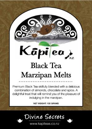 Black Tea Marzipan Melts
