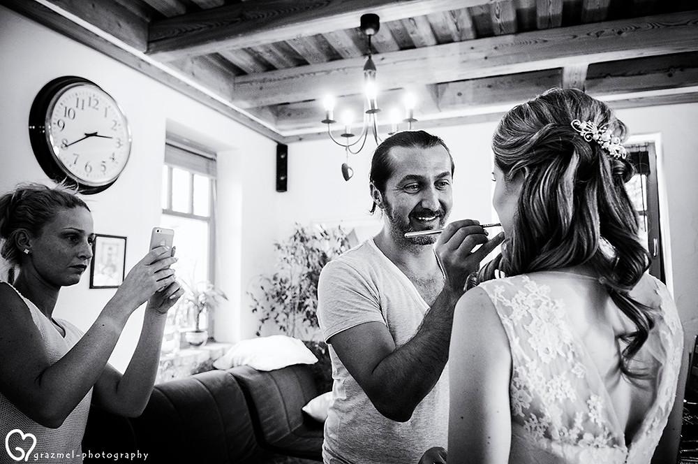 esküvői készülődés fotózása, Grazmel esküvői fotó