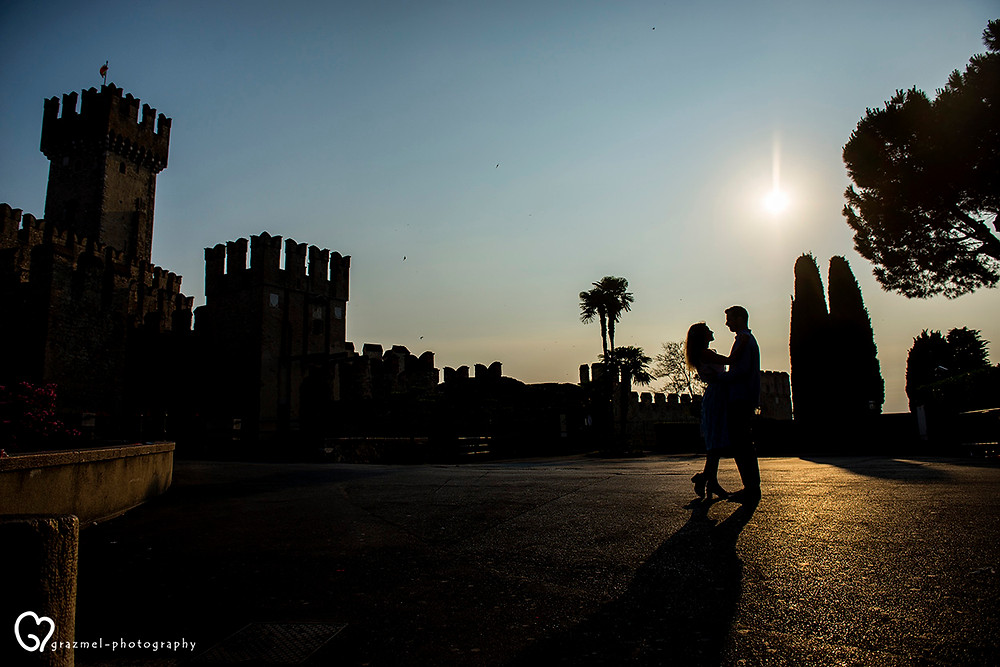 engagement photo session in Sirmione, Italy, Grazmel Photography