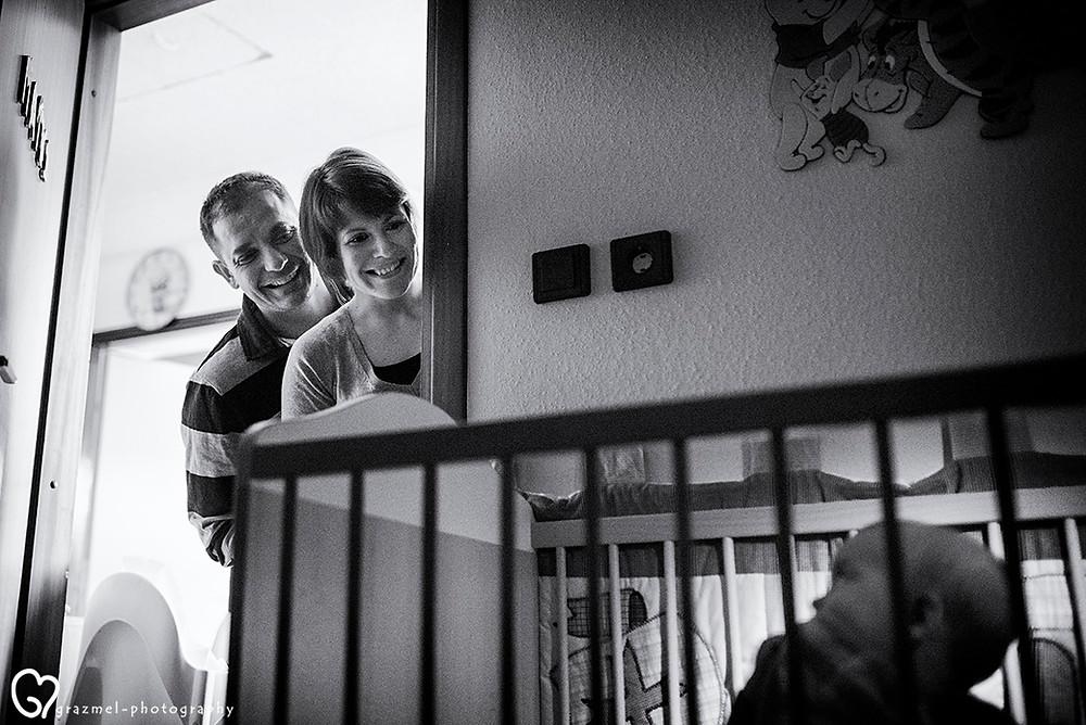 dokumentarista családi fotózás otthoni környezetben