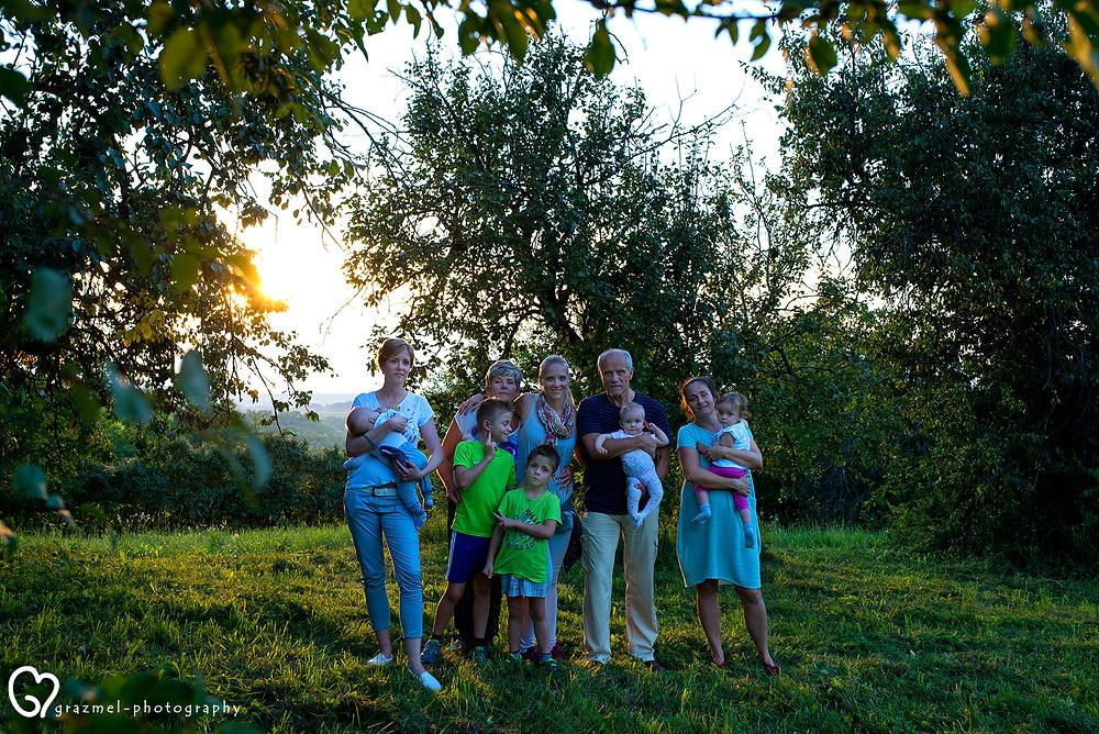 nagy családi fotózás, családfotós
