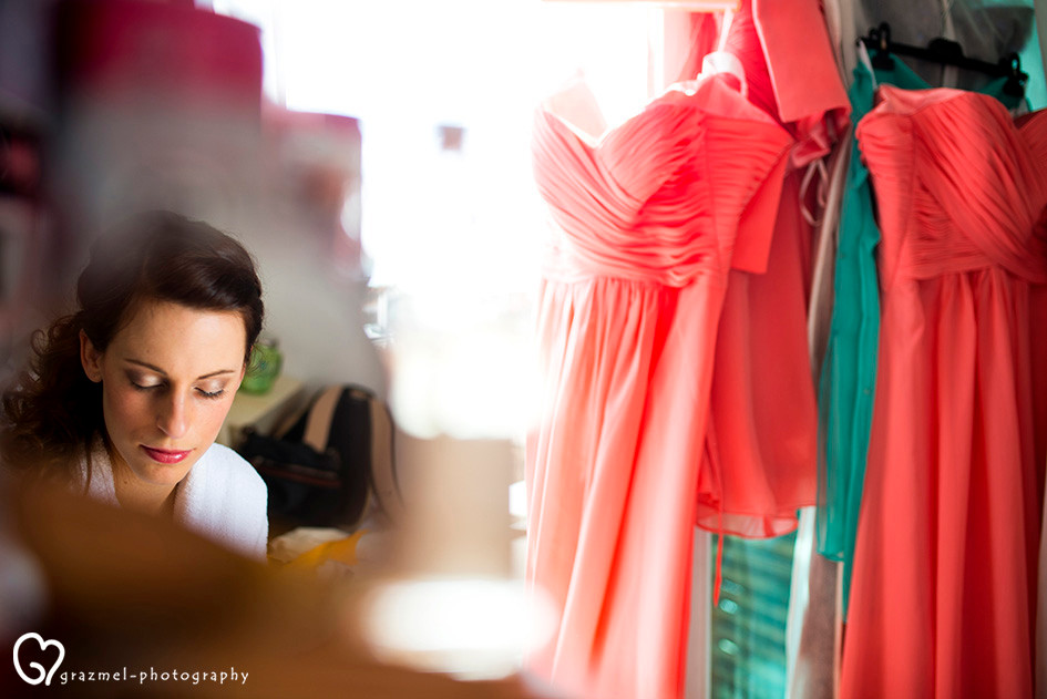 bridal getting ready in Budapest, Hungary