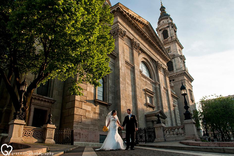 Venezuelan Wedding in Budapest, esküvői fotózás Bazilika