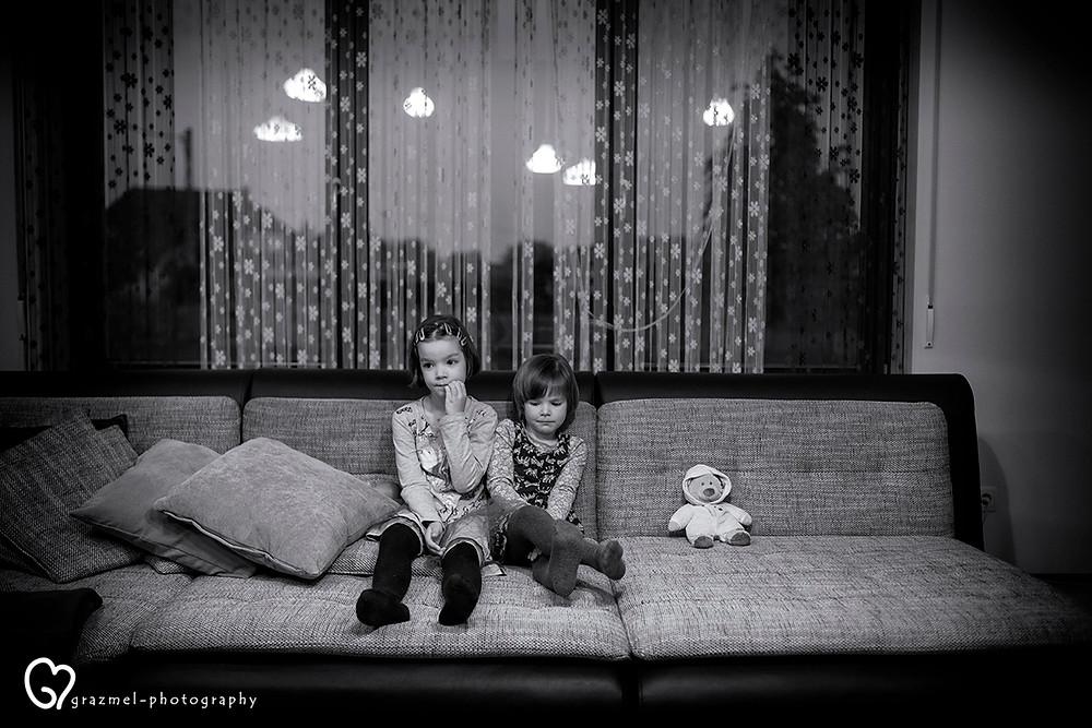 fáradt esti pillanatok, dokumentarista család fotózás