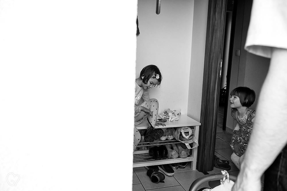 újra otthon, dokumentarista család fotózás
