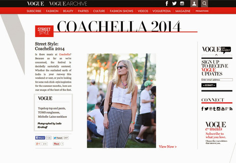 Vogue covers Coachella 2014, Michelle Laine Jewelry