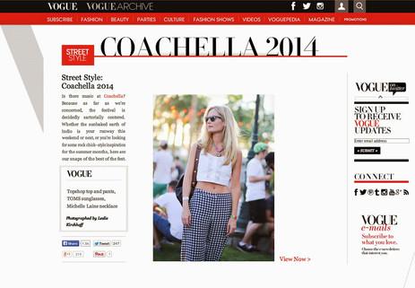 Vogue covers Coachella 2014, Michelle Laine Jewelry